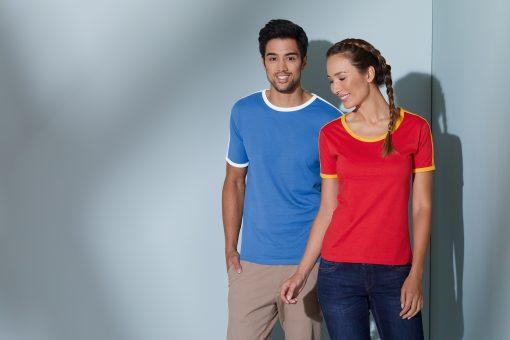 Дамска спортна тениска - цвят Бял/Черен