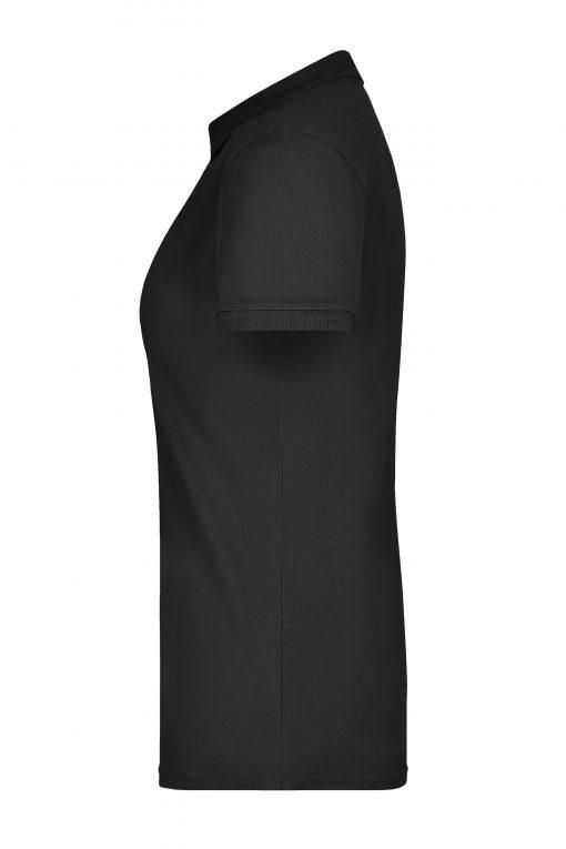 Дамска тениска с яка Pima - цвят Черен