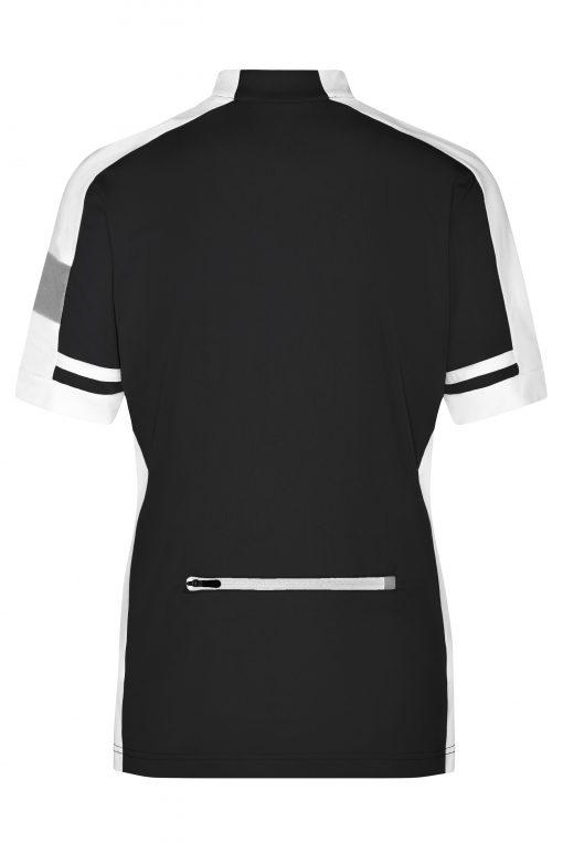 Дамска тениска за колоездене - цвят Черен