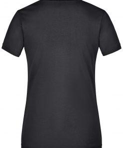 Дамска тениска с V-образно деколте - цвят Черен