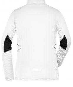 Дамска блуза за бягане с дълъг ръкав - цвят Бял/Черен