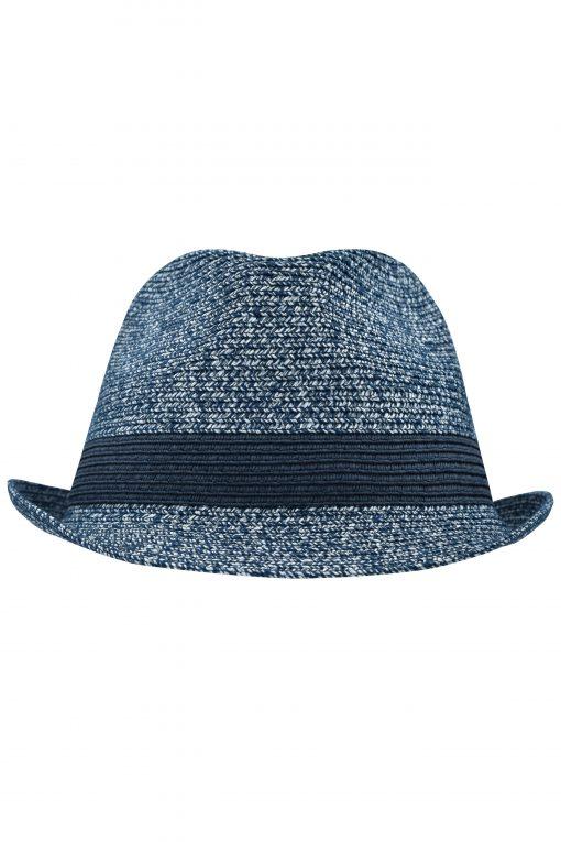 Лятна шапка Меланж - цвят Морскосиньо Меланж