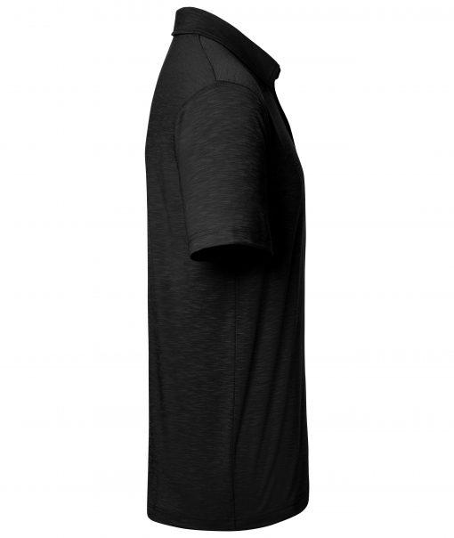 Мъжко спортно поло - цвят Черен
