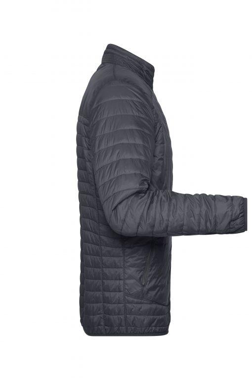 Мъжко шушляково яке - цвят Черно/Сребро