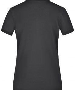 Дамска еластична тениска с яка Pique - цвят Черен