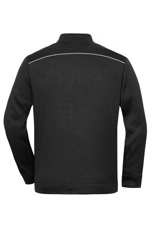 Мъжки полар с цял цип - цвят Черно/Черно