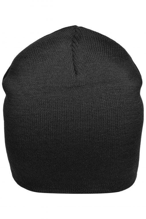 """Памучна шапка тип """"Beanie"""" - цвят Черен"""