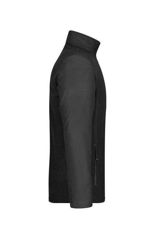 Мъжко поларено горнище - цвят Черен