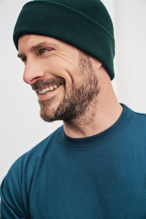 Зимна плетена шапка - цвят Черен
