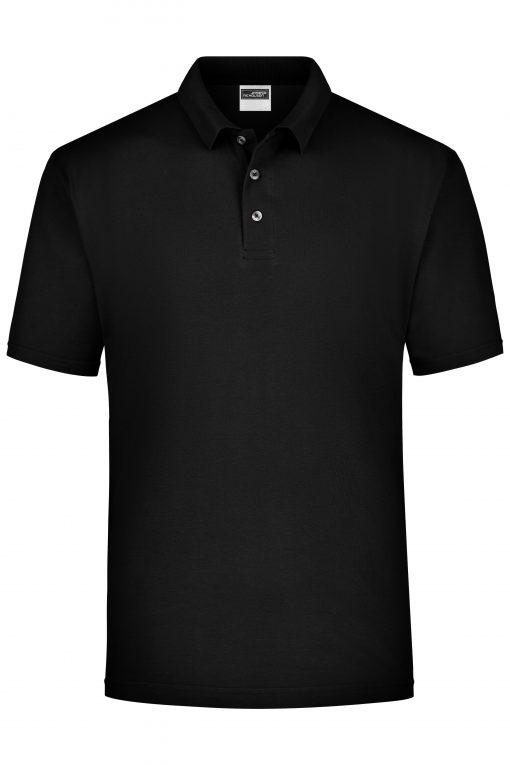 Мъжка тениска с яка - цвят Черен