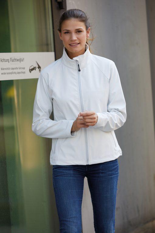 Дамско софтшел яке без качулка - цвят Черен