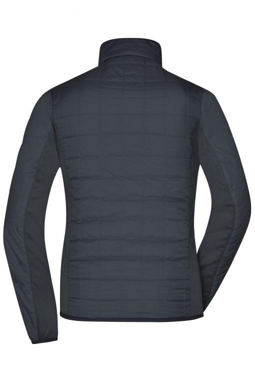 Дамско хибридно яке - цвят Черно/Сребро