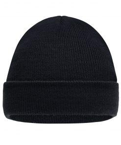 Детска плетена шапка - цвят Черен