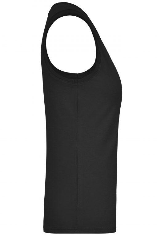 Дамски памучен потник - цвят Черен