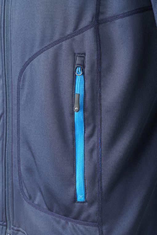 Мъжки полар с яка - цвят Черно/Сребро