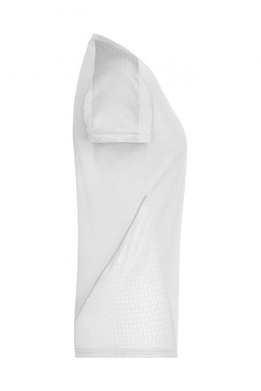 Дамска тениска за бягане - цвят Бяло/Бяло
