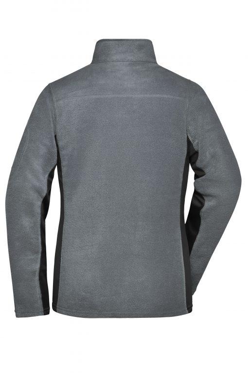Дамски полар с цял цип - цвят Индиго/Черно