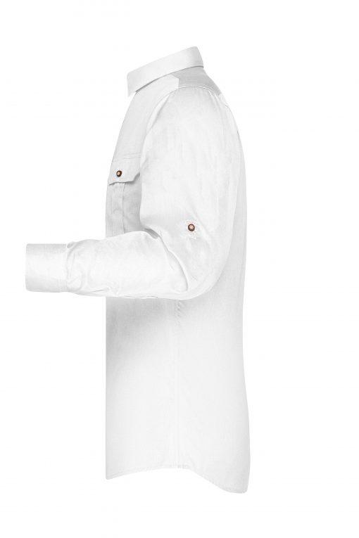 Мъжка риза с Easy-Care покритие - цвят Бяло