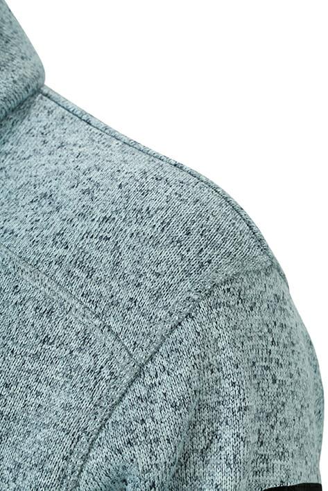 Мъжки туристически полар - цвят Тъмно-Сив-Меланж/Сребро