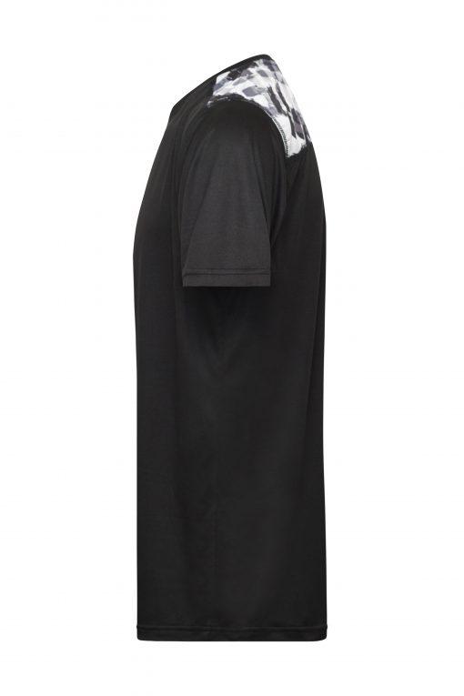 Мъжка спортна тениска - цвят Черно/Черно-Отпечатано