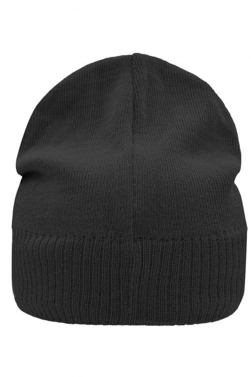 Плетена шапка от руно  - цвят Черен
