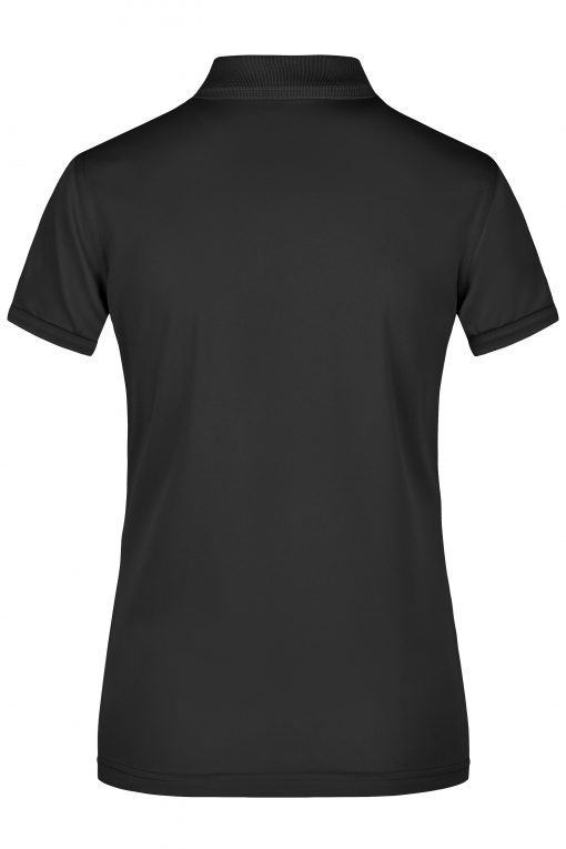 Дамска тениска с яка - цвят Черен
