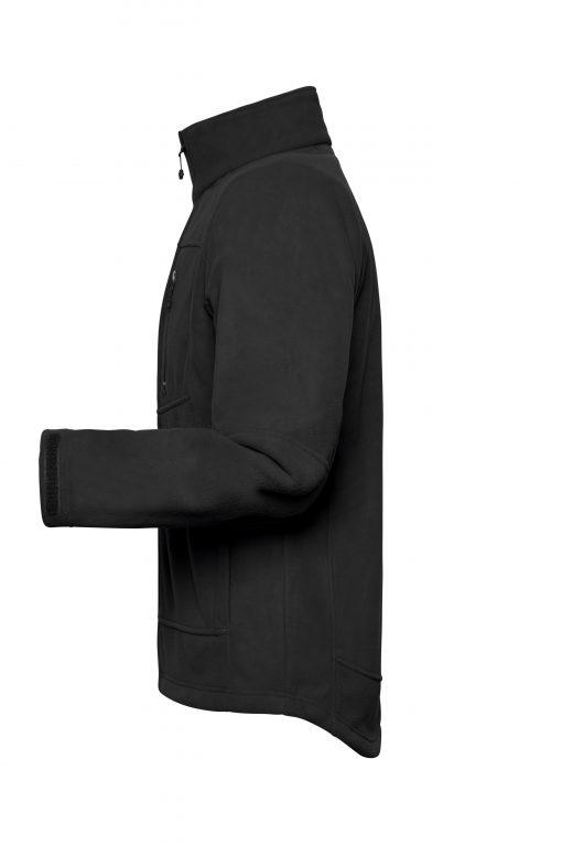 Мъжко поларено яке - цвят Черно/Червено