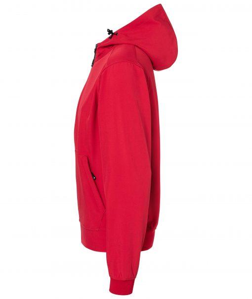 Мъжко софтшел яке - цвят Червено/Черно