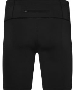 Мъжки къси панталони за бягане - цвят Черно/Черно