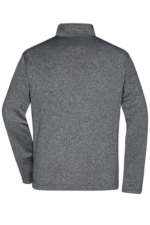 Мъжко софтшел яке - цвят Тъмно-Меланж/Черен