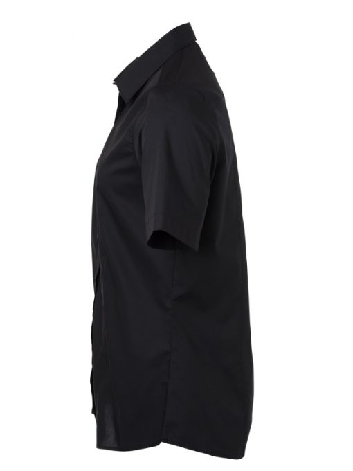 Дамска риза с къс ръкав - цвят Черен