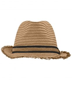 Лятна шапка тип бомбе - цвят Карамел / Черен