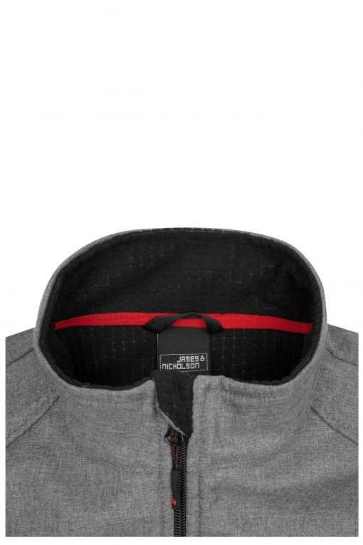Мъжко софтшел яке - цвят Тъмно-Меланж