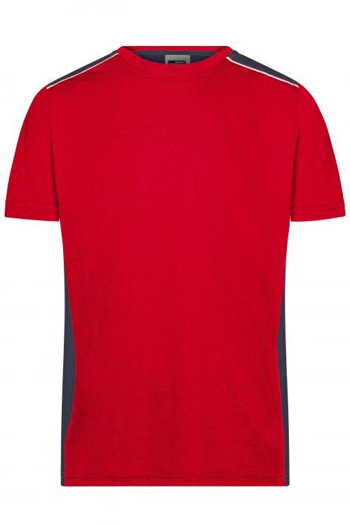 Мъжка спортна тениска - цвят Червено/Флота