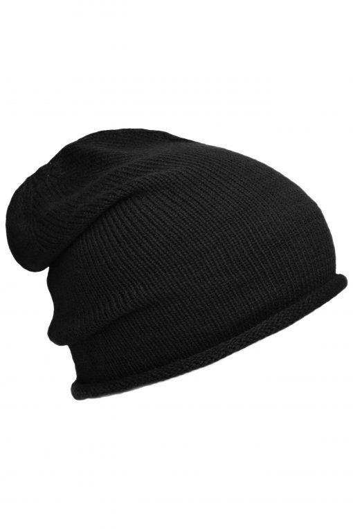 Зимна шапка Roll Beanie - цвят Черен