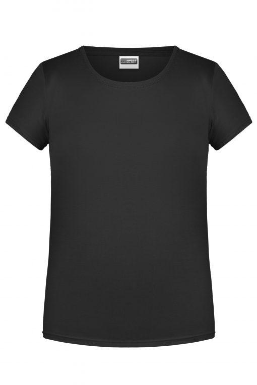 Детска тениска за момиче - цвят Черен