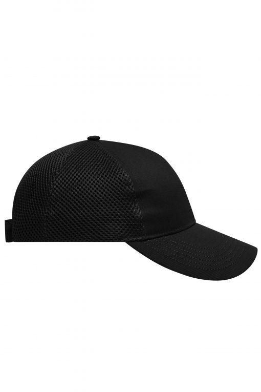 Дишаща шапка с козирка - цвят Черен
