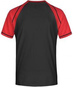 Мъжка спортна тениска - цвят Черно/Червено