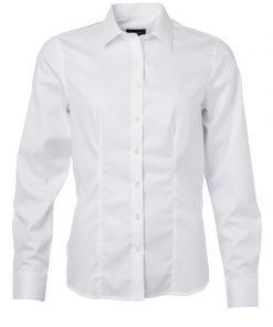 Дамска риза с дълъг ръкав - цвят Бяло