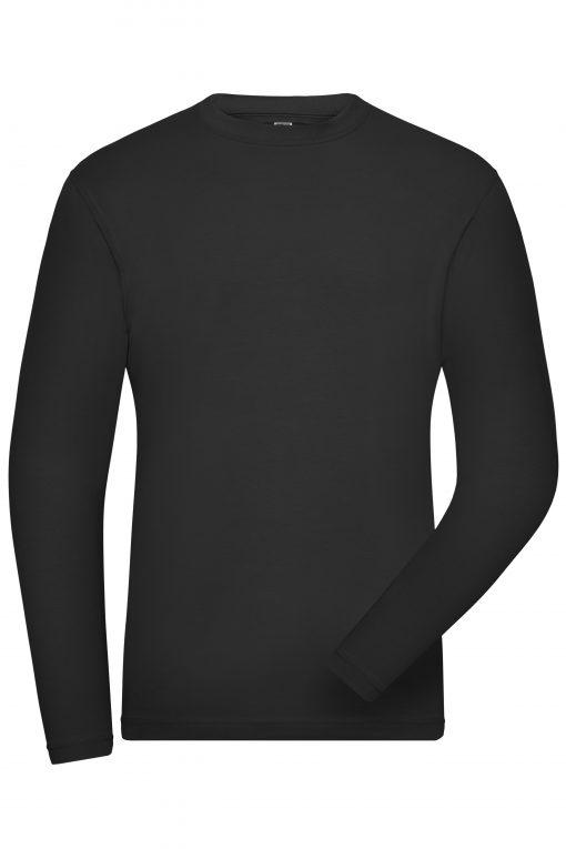 Мъжка блуза с дълъг ръкав Long Stretch - цвят Черен