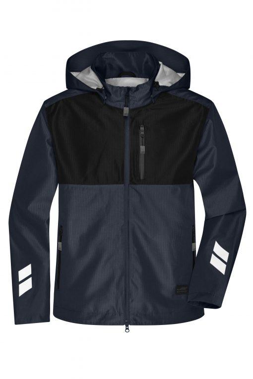 Мъжко хардшел яке - цвят Индиго/Черно