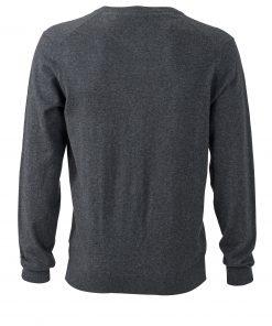 Мъжка копринено-кашмирена жилетка - цвят Антрацит-Меланж