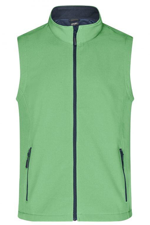 Мъжки софтшел елек - цвят Зелен/Морско Синьо