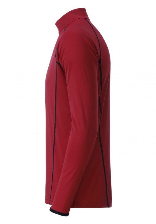 Мъжка спортна блуза с дълъг ръкав - цвят Червено/Черно