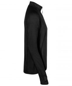 Мъжка спортна блуза с полуцип - цвят Черен