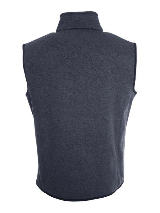 Мъжки поларен елек - цвят Тъмно-Сив-Меланж/Сребро