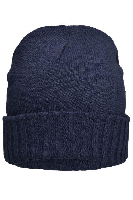 Плетена зимна шапка Ripp - цвят Морскосиньо