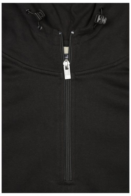 Мъжки суичър с качулка - цвят Черен