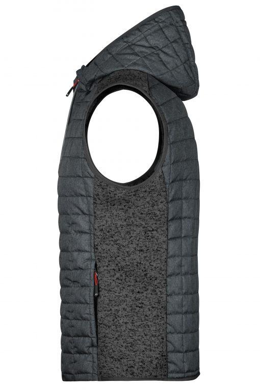 Мъжки спортен елек - цвят Сив Меланж/Антрацит-Меланж