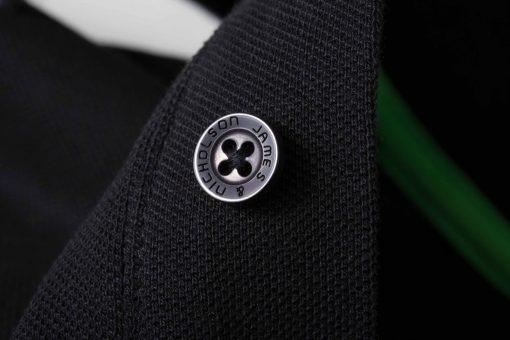 Мъжка тениска с яка Coldblack - цвят Черно/Бяло/Сиво